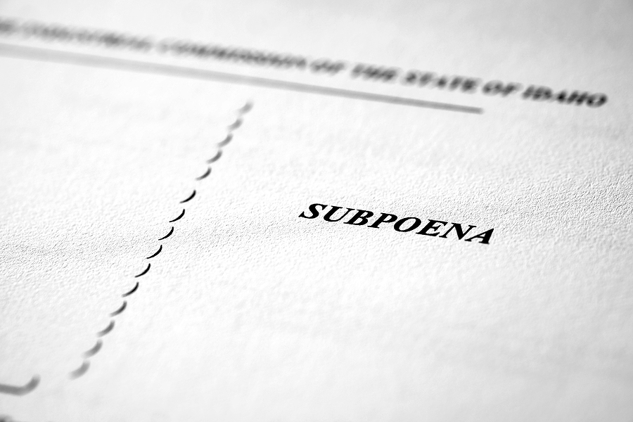 Divorce subpoena in Illinois