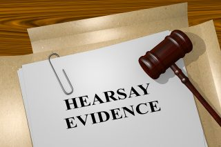 Hearsay evidence in an Illinois trial.